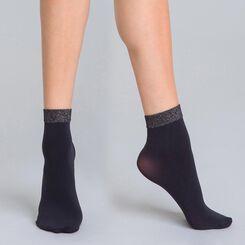 Socquettes bord lurex noir et argent DIM & BASH-DIM
