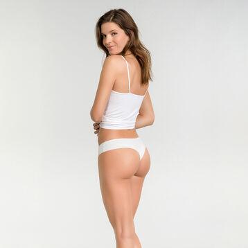 Braguita brasileña de microfibra blanca - Table Panties, , DIM