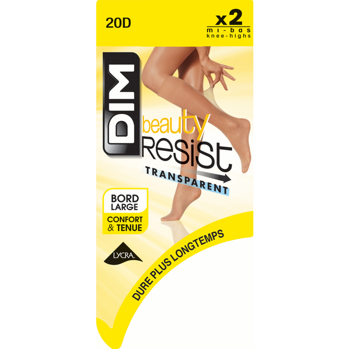 Lot de 2 Mi-Bas noir Beauty Resist 20D-DIM