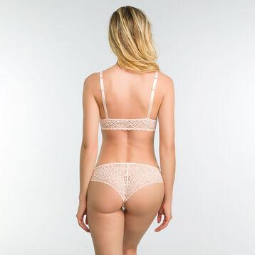 Sujetador sin aros triangular de encaje rosa bailarina - Dim Sublim , , DIM