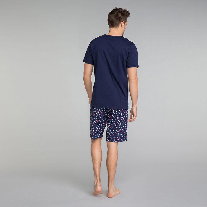 Camiseta de pijama de manga corta blanca y azul marino - Fashion, , DIM