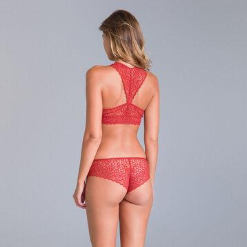 Bralette en dentelle rouge cuivré Sublim Mod de Dim-DIM