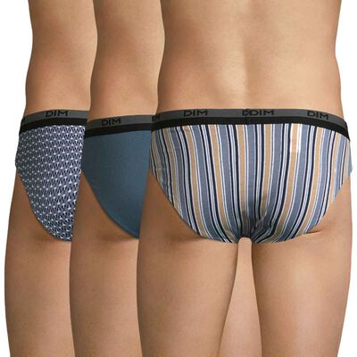 Pack de 3 slips de algodón estampado eclipse - Coton Stretch, , DIM
