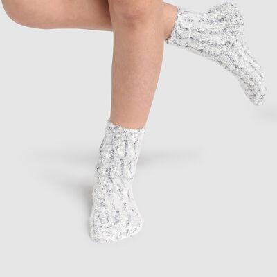 Calcetines para niños antideslizantes estampado ratón marfil Kids Cocoon, , DIM
