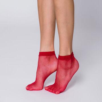 Socquettes résille rouge chili Style-DIM