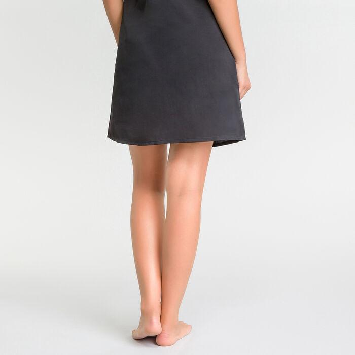Camisón con encaje negro satén - Glamour, , DIM