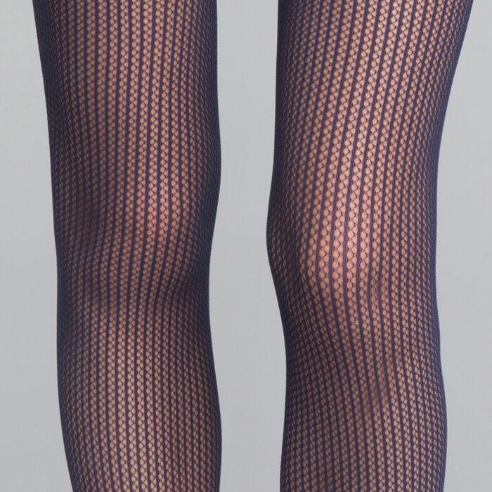 Panti de rejilla de rayas azul marino 73D - DIM Style, , DIM