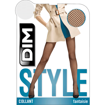 Collant noir Résille 73D Madame so Fashion-DIM