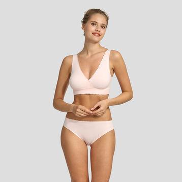 Bralette sin aros rosa bailarina New Body Touch Libre de Dim, , DIM