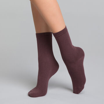Calcetines violetas de algodón  - Dim Basic Coton, , DIM