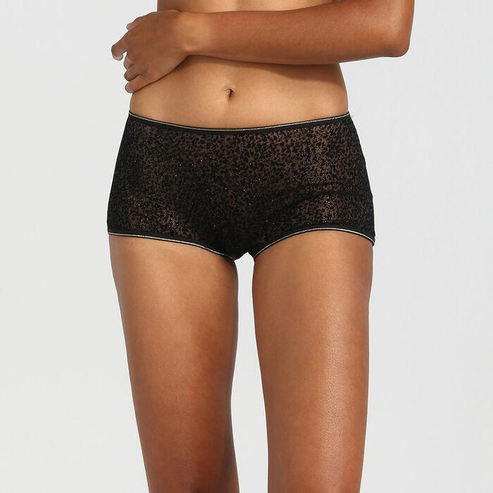 Culotte de tul y terciopelo negro Chic Line, , DIM