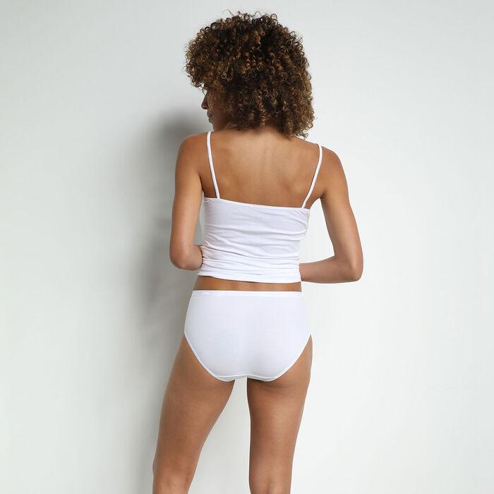 Lote de 2 maxibragas blancas para mujer Coton Plus Bio, , DIM