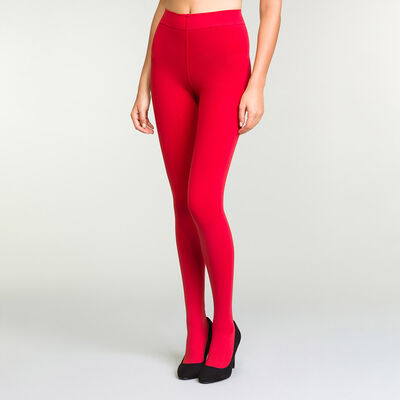 Panti ultraopaco rojo intenso para mujer Perfect Contention, , DIM