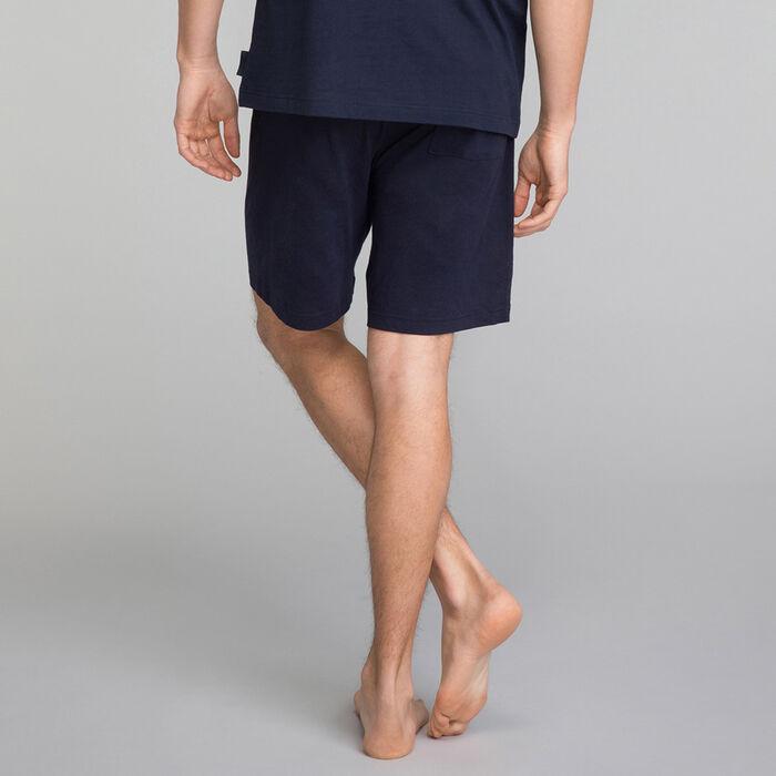 Pantalón corto de pijama de algodón azul marino - Mix and Match, , DIM