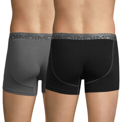 Lot de 2 boxers noir et gris foncé 3D Flex Morphotech-DIM