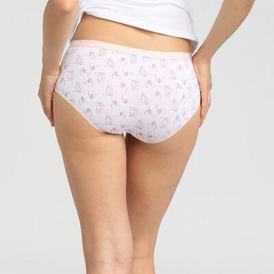 Pack de 5 culottes de algodón elástico estampado romance Les Pockets Coton Dim, , DIM