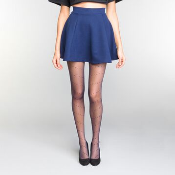 Panti de rejilla plumetis azul marino 20D - Dim Style, , DIM