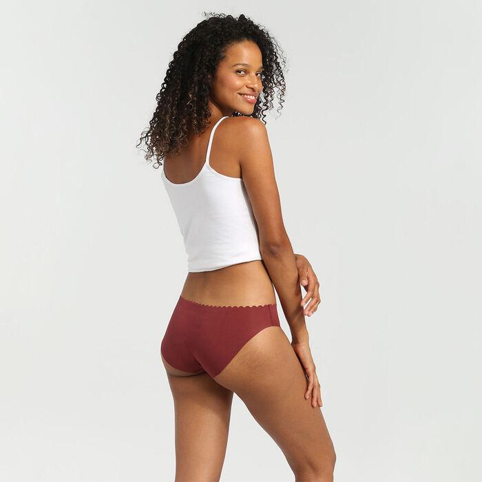 Pack de 2 culottes de algodón elástico chocolate/rosa palo Body Touch Coton, , DIM