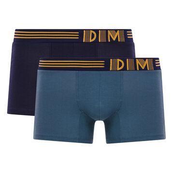 Pack de 2 bóxers gris y azul - Soft Touch Pop, , DIM
