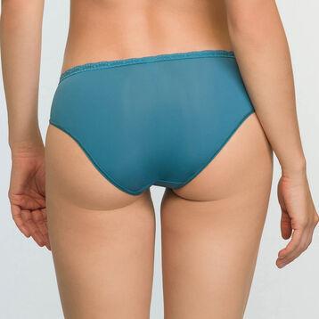 Braguita verde azulado de encaje y microfibra Daily Glam Trendy Sexy, , DIM