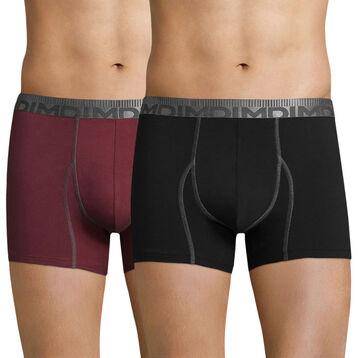 Lot de 2 boxers rouge cardinal et noir 3D Flex Morphotech-DIM