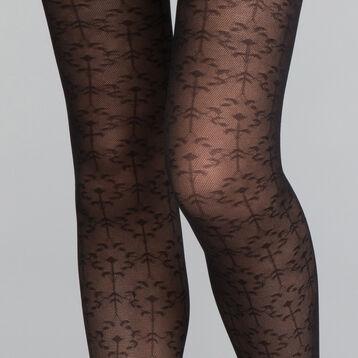 Panti fantasía motivo de hojas negro 20D - DIM Style, , DIM