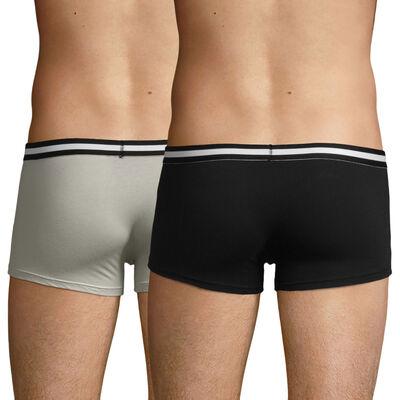 Pack de 2 bóxers negro y gris de algodón elástico EcoDIM, , DIM