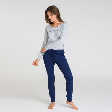 Tee-shirt manches longues gris chiné Soft & Cool-DIM