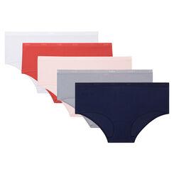 Pack de 5 culottes de algodón elástico coloridos Les Pockets EcoDim, , DIM