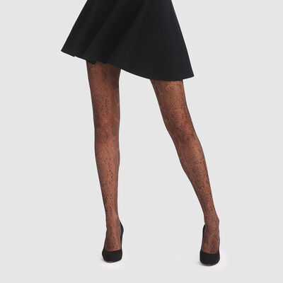 Panty negro estampado piel de serpiente Style de Dim 20D, , DIM