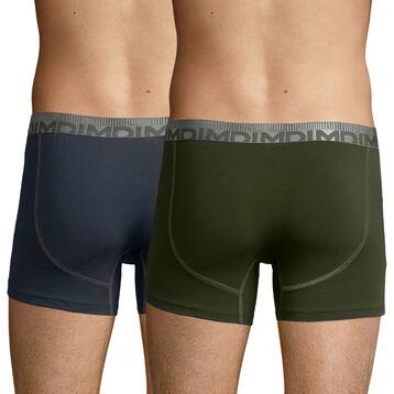 Pack de 2 bóxers gris y verde caqui 3D Flex Morphotec , , DIM