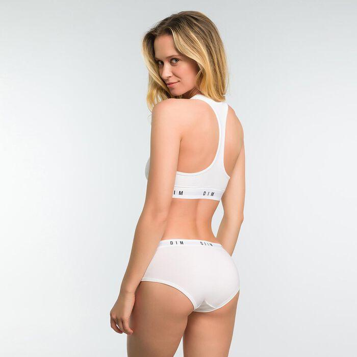 Top blanco sin aros con espalda nadadora - DIM Originals, , DIM