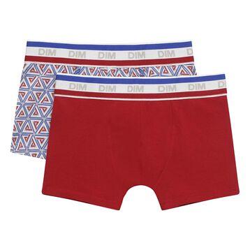 Pack de 2 boxers para niño de algodón elástico Courchevel, , DIM