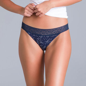 Slip brésilien imprimé constellation Table Panties-DIM