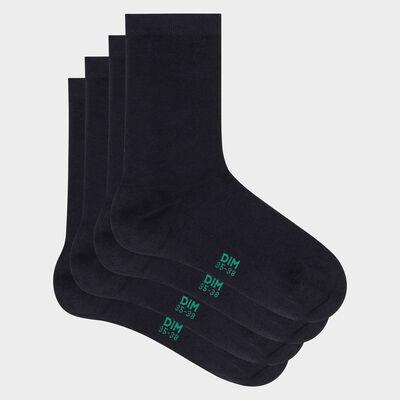 Pack de 2 pares de calcetines para mujer de algodón bio azul Green by Dim, , DIM