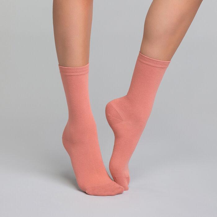 Calcetines rosas de algodón -  Dim Basic Coton, , DIM