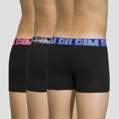 Pack de 3 boxers niño de algodón elástico Malibu Mix & Color, , DIM