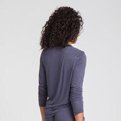 Tee-shirt manches longues gris Pure Essential-DIM