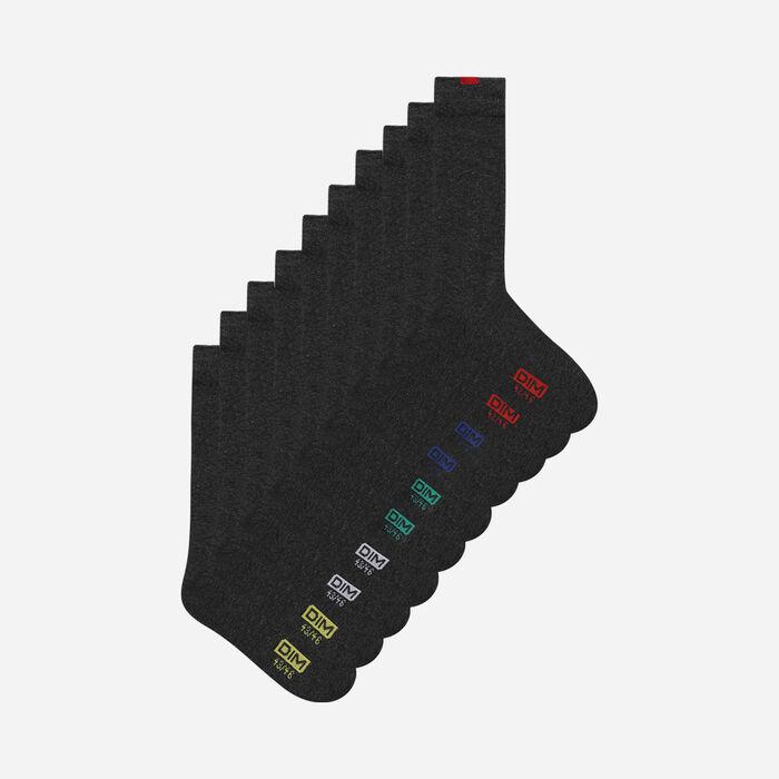 Lote de 5 pares de calcetines grises EcoDIM para hombre, , DIM