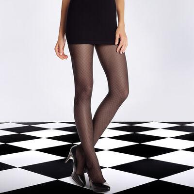 Panti negro DIM SIGNATURE Illusion rejilla 20D, , DIM