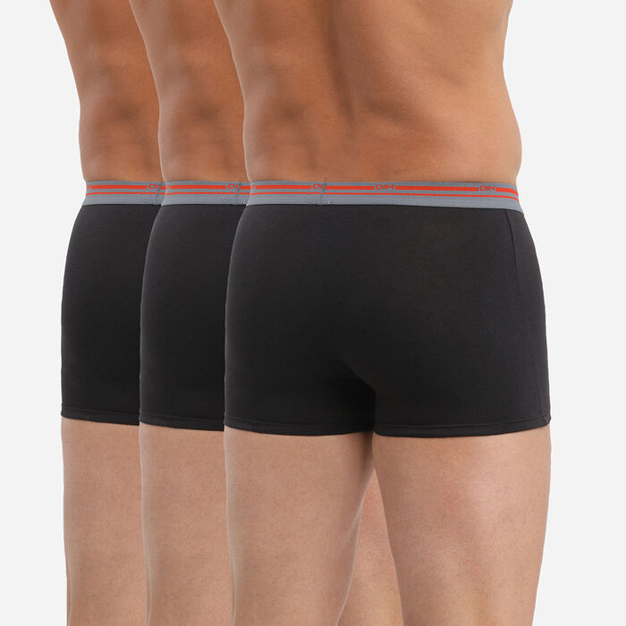 Pack de 3 bóxers de algodón elástico negro para hombre Daily Colors , , DIM