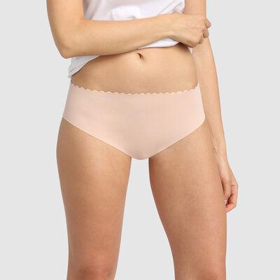 Pack de 2 hípsters de algodón elástico chocolate/rosa palo Body Touch, , DIM