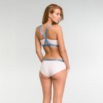 Top triangular de algodón rosa claro - Les Pockets Edición Limitada, , DIM