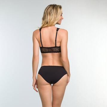 Sujetador negro con foam y encaje para mujer Daily Glam Trendy Sexy, , DIM