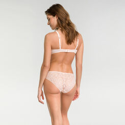 Sujetador push up de encaje triangular rosa bailarina - Dim Sublim Dentelle, , DIM