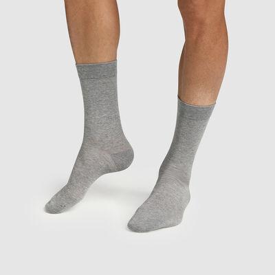 Pack de 2 pares de calcetines para hombre de algodón lyocell gris Green by Dim, , DIM