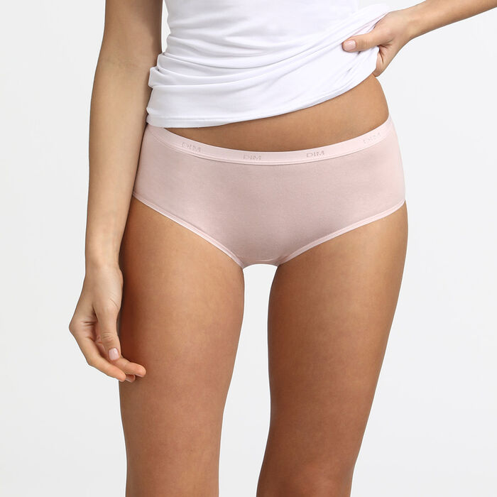 Lote de 3 bóxers de color visón/rosa/nácar Les Pockets de algodón, , DIM