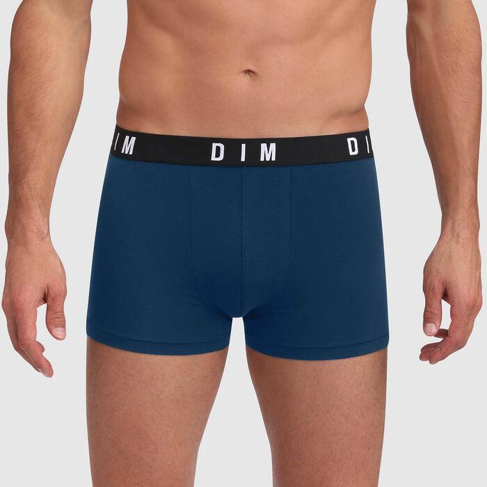 Bóxer verde azulado seasl rocks algodón modal de cinturón plano DIM Originals., , DIM