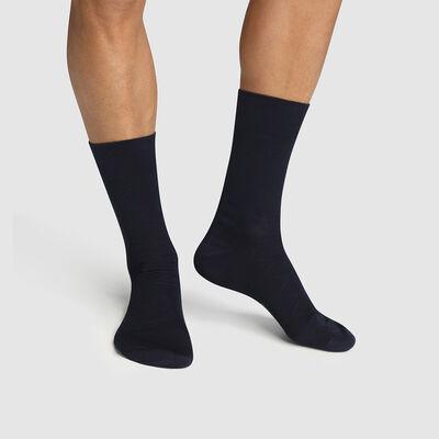 Pack de 2 pares de calcetines de algodón azul marino con hilo de Escocia, , DIM