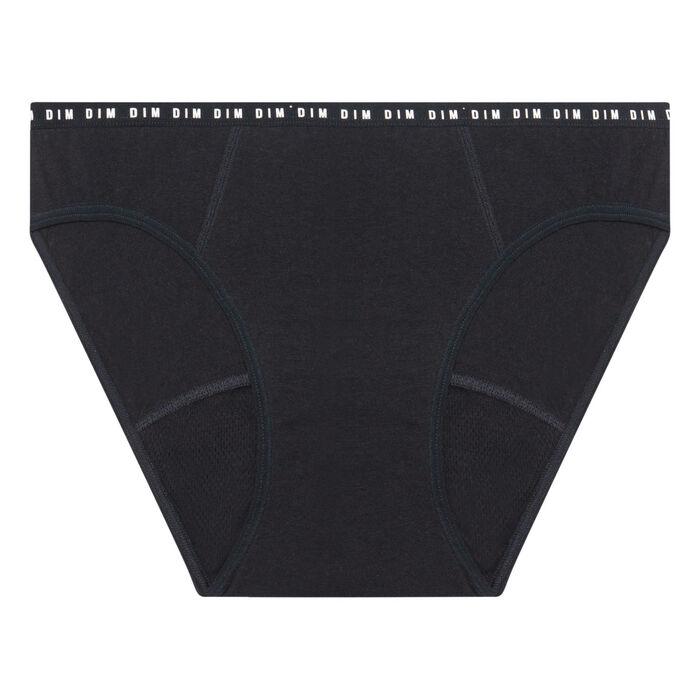 Braguita menstrual lavable de algodón bio* negra -flujo medio Dim Protect, , DIM
